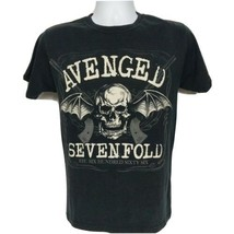 Avenged Sevenfold Hail To The King Concert Band T-Shirt Small Winged Skull - £19.33 GBP