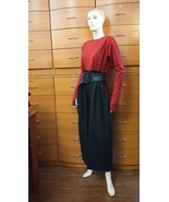 JUMPSUIT PARTY BELTED THUMB SLEEVES POCKET DROP CROTCH MADE IN EUROPE US... - $475.00