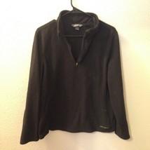 Eddie Bauer $99 Women's Black Longsleeve Half Zip Fleece Sweater Sz Large  - $29.84