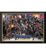 Avengers MCU All Heroes & Villains Framed Canvas - Stan Lee Facsimile Au... - $380.00