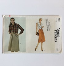 Vogue 7658 Misses A-line Skirt Size 16 Welt Pockets Pleats Uncut Pattern... - $8.75