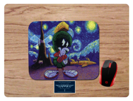 MARVIN THE MARTIAN STARRY NIGHT INSPIRED NON-SLIP MOUSE PAD HOME OFFICE - $11.73