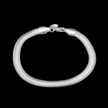 Silver Women's 6mm Snake Herringbone image 2