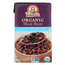 Dr. McDougall's Organic Black Bean Lower Sodium Soup - Case of 6 - 18 oz. - $38.02