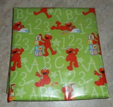 Sesame Street Green Elmo Kids  Gift Wrapping Paper 12.5 Sq Ft Roll - $7.00