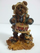 1998 Boyds Bears Nativity Series #4 Matthew As The Drummer Figurine #2415 - $9.85