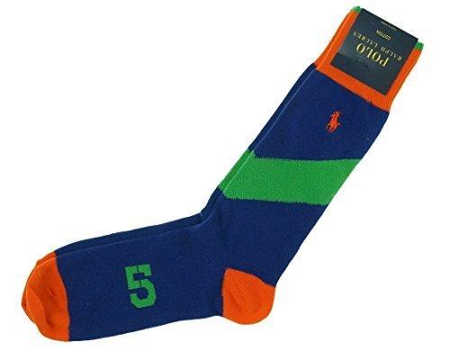 Polo Ralph Lauren Men Intarsia-Knit Trouser Socks (One size, Royal)
