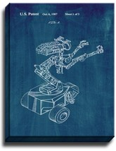 Short Circuit Movie Number 5 Robot Patent Print Midnight Blue on Canvas - $39.95+