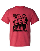 Texas Chainsaw Massacre graphic tee Leatherface retro horror movie cotton blend  image 2