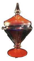 Anchor Hocking TANGO 1093 Cone Shape Covered Candy Dish Tall Ribbed Rim ... - $19.78