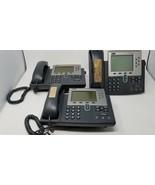 Lot of 3 Cisco 7961G IP Telephone CP-7961G  - $9.89