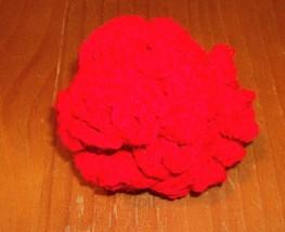 New Handmade Red Crochet Brain Ball Dog Toy For Cocker Spaniel Rescue Ch... - $6.99