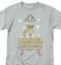 Wonder Woman T-shirt Stars Retro DC comic book Batman superhero tee DCO552B image 2