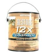 1 Can Rust-Oleum 1 Gallon Restore 12X Transparent Light Cedar Stain & Se... - $25.99