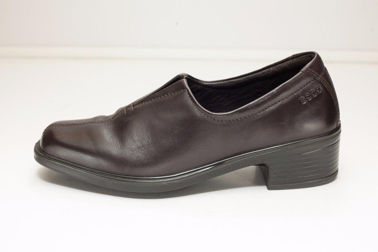ECCO 5 5.5 Brown Slip On Shoes EU 36 Women's