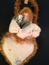 "Vintage Felt Christmas Angel Composite 9"" Plastic Ornament - $13.06"