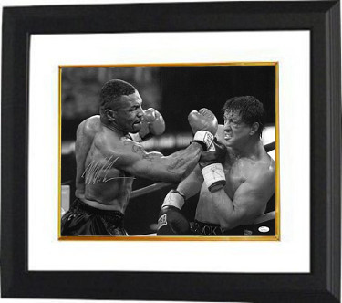 Primary image for Mike Tyson signed Boxing 16X20 Photo Custom Framed- JSA Hologram (with Rocky- He