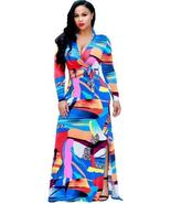 Deep V Neck Split Women's Maxi Dress - $53.97