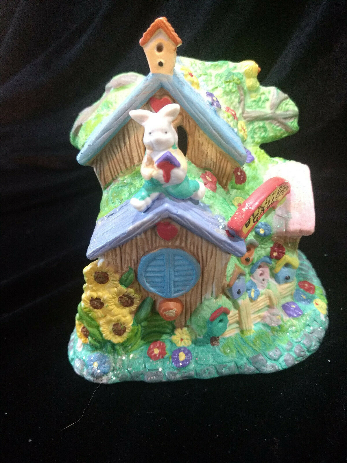 Hoppy Hollow Easter Village Ceramic Houses Set of Three (Lot #4) image 5