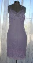 Vintage Lavender Purple Gossard Full Slip Lace Lingerie Dress SEXY Pin-U... - $29.69