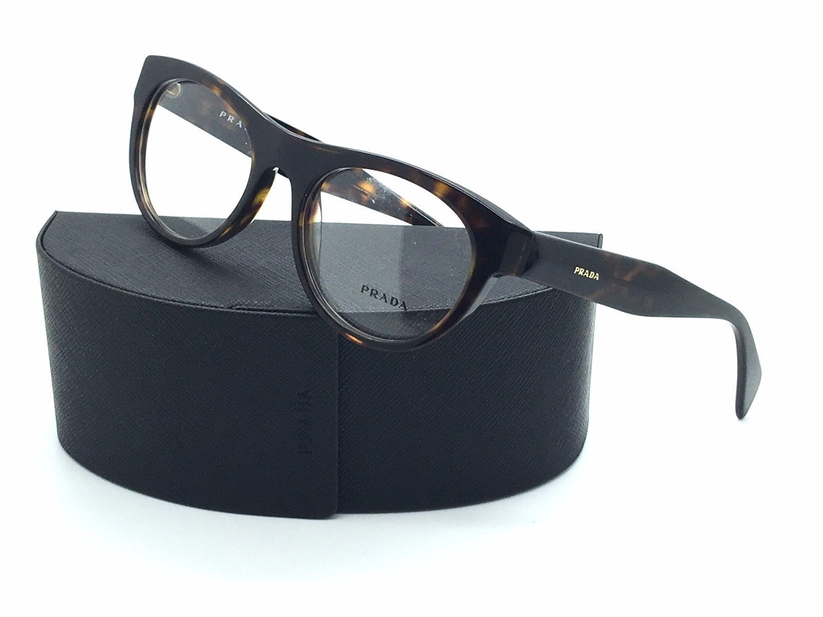 7ec4c928adc Prada Eyeglasses VPR 02Q 2AU-101 Havana and 20 similar items. 57