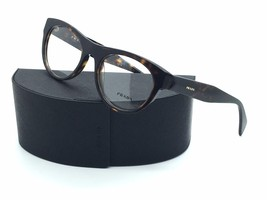 Prada Eyeglasses VPR 02Q 2AU-101 Havana Tortoise Frame Italy New 52mm Au... - $92.97