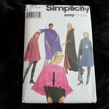 Simplicity 5786 Easy Cape In Four Lengths Womans 6 8 10 12 14 16 UNCUT - $10.38