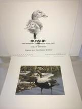 1987 Alaska Waterfowl Conservation Stamp Print Carl Branson  - $39.60