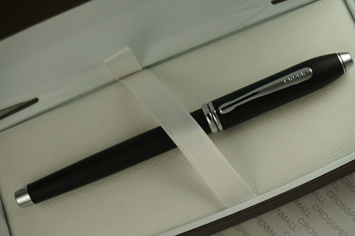 Cross Townsend Smooth Royal Satin Matte Black and Rhodium Selectip Rollerball