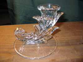 Vintage Fostoria Baroque Glass Single Lite Candle Holder - $12.00