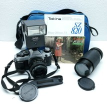 Canon AE-1 Program 35mm SLR Camera with RMC Tokina 28mm 1:2.8 & 80mm-200mm f/4 - $237.57