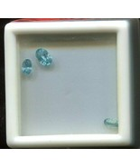 1.45 Total Ct. Weight - Zircon Natural Oval Facet Blue - Three Loose Stones - $13.36