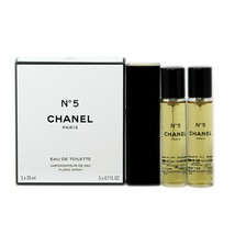 Chanel No 5 Eau De Toilette Purse Spray 3x20 ML/3x0.7 Fl.Oz. Nib - $128.21