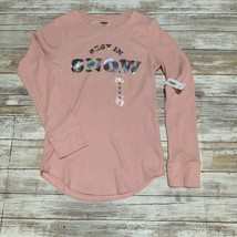 """NWT Old Navy Girls Pink Thermal Long Sleeve with """"Best in snow"""" Size XL ... - $11.88"""