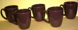 MUGS- Five Chocolate Brown Stoneware Mugs Corelle - $19.95