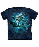 Sea Turtles Collage Hand Dyed Print T-Shirt The Mountain NEW UNWORN - $14.50