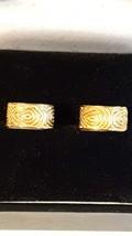 1 x pair solid bronze  ear cuffs ,tear drops effect ear clips