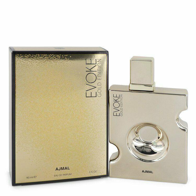 Evoke Gold by Ajmal 3 oz 90 ml EDP Spray for Men New in Box - $35.49