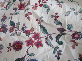 Hollander Twin Fitted Sheet Beige Floral 100% cotton - $14.99