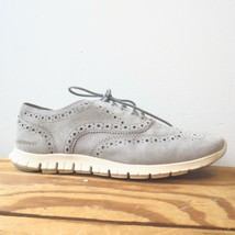 9 - Cole Haan Ironstone Gray Suede Zerogrand Wing Oxford Sneakers w/ Box... - $50.00