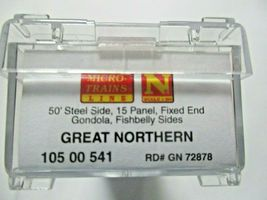 Micro-Trains # 10500541 Great Northern 50' Steel Side Gondola, 15 Panel N-Scale image 5