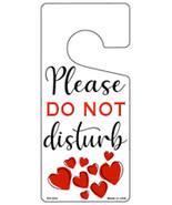 Please Do Not Disturb Hearts Novelty Metal Door Hanger - $12.95