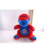 "NBA L.A. CLIPPERS Plush Stuffed Dinosaur Collectible Basketball 10"" Red ... - $13.85"