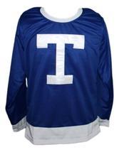 Custom Name # Toronto Arenas Retro Hockey Jersey New Blue Any Size image 3