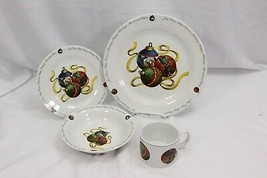 Atico Yuletide Traditions Xmas Ornaments 4 Piece Place Setting - $29.39