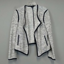 Ann Taylor Open Front knit Blazer size L Carrier Work Casual Stretchy bl... - $37.95