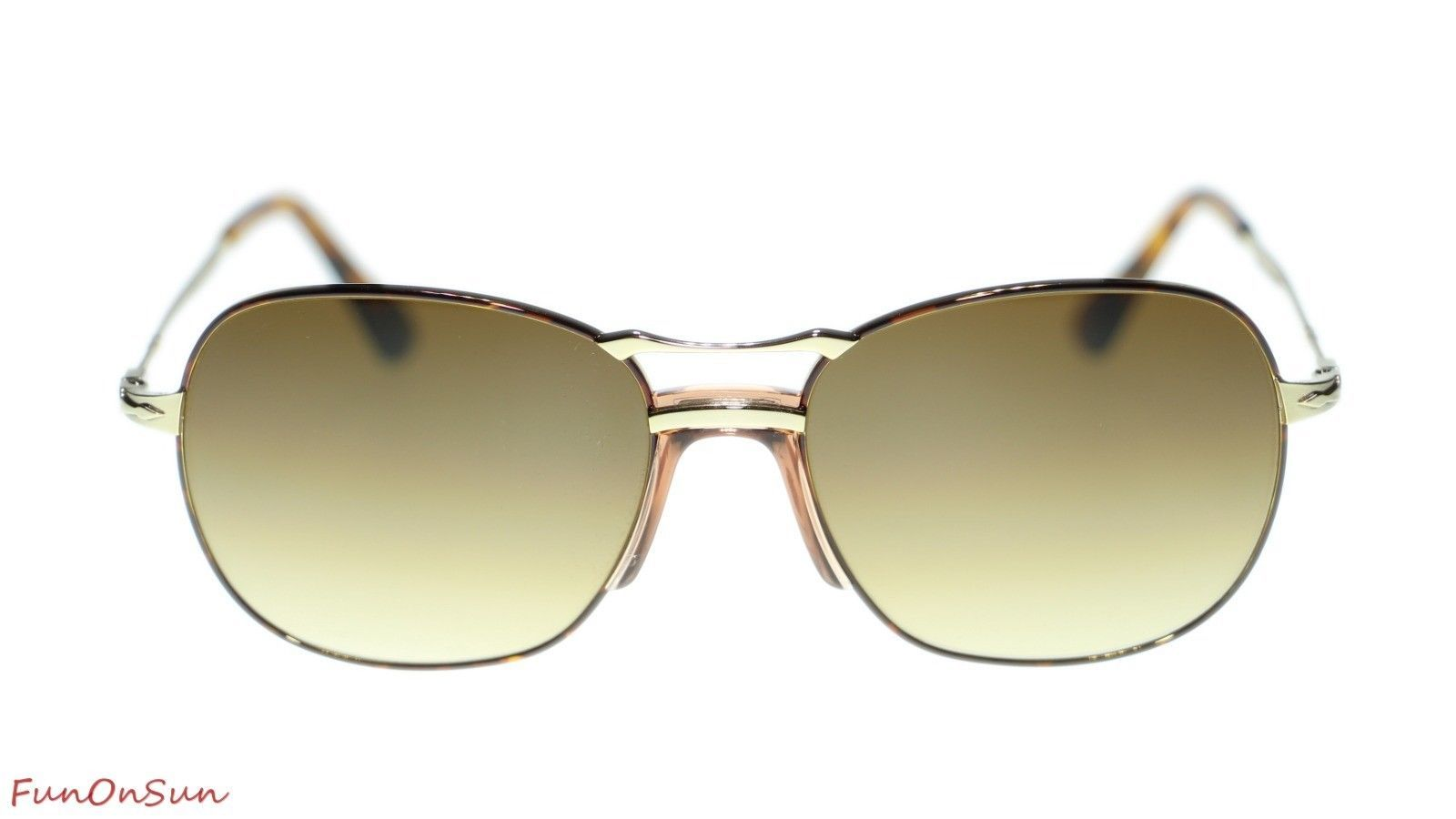 Persol Mens Sunglasses PO2449S 107551 Havana Gold/Clear Gradient Brown Lens 56mm