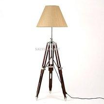Nauticalmart Dark Brown Wooden Tripod Floor Lamp - $197.01