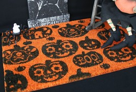 Crate And Barrel Pumpkin Doormat – Nwt – Step Right Up To Some Halloween Fun! - $24.97