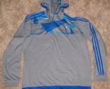 Adidas Soccer Men's Tiro 15+ Climacool Training Hoodie A99391 BLUE GREY Sz L New